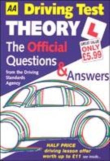 Image for AA driving test theory  : the official questions & answers