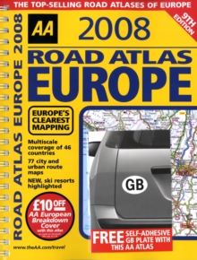 Image for AA road atlas Europe 2008
