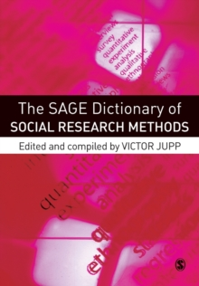 Image for The SAGE dictionary of social research methods