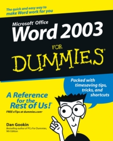 Image for Word 2003 for dummies