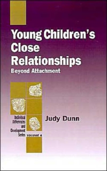 Image for Young Children's Close Relationships : Beyond Attachment