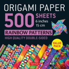 Image for Origami Paper 500 sheets Rainbow Patterns 6 inch (15 cm)