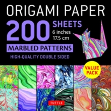 """Image for Origami Paper 200 sheets Marbled Patterns 6"""" (15 cm) : Tuttle Origami Paper: High-Quality Double Sided Origami Sheets Printed with 12 Different Patterns (Instructions for 6 Projects Included)"""