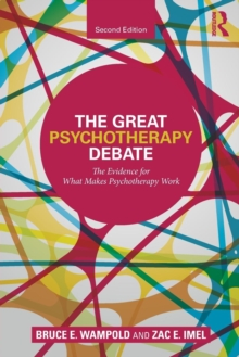 Image for The great psychotherapy debate  : models, methods, and findings