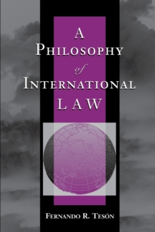 Image for A philosophy of international law