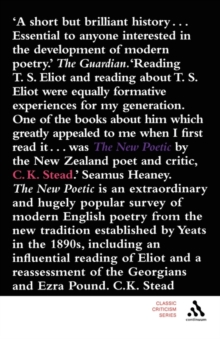 Image for The new poetic  : Yeats to Eliot