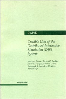 Image for Credible Uses of the Distributed Interactive Simulation (DIS) System