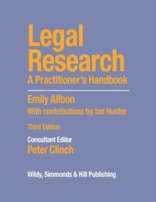 Image for Legal research  : a practitioner's handbook