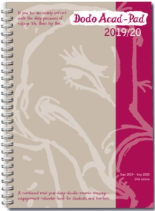 Image for Dodo Acad-Pad A5 Diary 2019-2020 - Mid Year / Academic Year Week to View Diary (Special Purchase) : A combined doodle-memo-message-engagement-calendar-organiser-planner for students and teachers