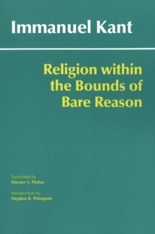 Image for Religion within the bounds of bare reason