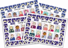 Image for Let's Sign: BSL Poster/Mats A4 Set of 4