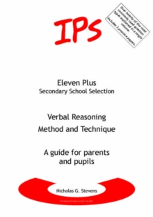 Image for Verbal Reasoning - Method and Technique : A Guide for Parents and Pupils