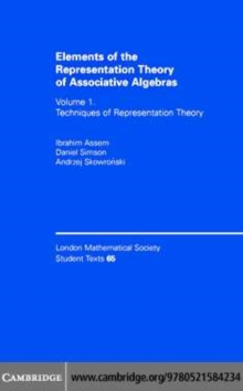 Image for Elements of the representation theory of associative algebras