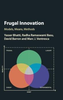 Image for Frugal innovation  : models, means, methods