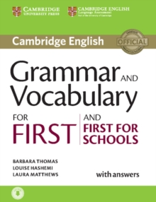 Image for Grammar and Vocabulary for First and First for Schools Book with Answers and Audio