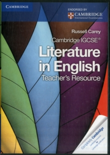 Image for Cambridge IGCSE Literature in English Teacher's Resource