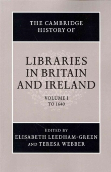 Image for The Cambridge History of Libraries in Britain and Ireland 3 Volume Paperback Set