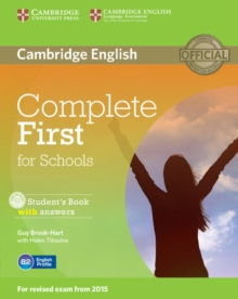 Complete First for schools: Student's book with answers - Brook-Hart, Guy