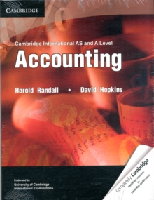 Image for Cambridge International AS and A Level Accounting Textbook