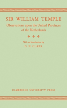 Image for Observations upon the United Provinces of the Netherlands