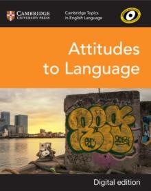Image for Attitudes to language
