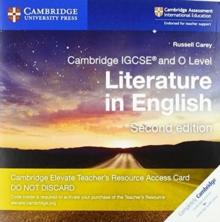 Image for Cambridge IGCSE (R) and O Level Literature in English Cambridge Elevate Teacher's Resource Access Card
