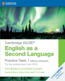 Image for Cambridge IGCSE English as a second language  : for the revised exam from 2019: Practice tests 1 without answers