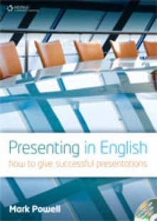 Image for Presenting in English  : how to give successful presentations