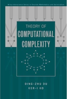 Image for Theory of Computational Complexity