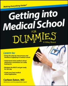 Image for Getting into medical school for dummies