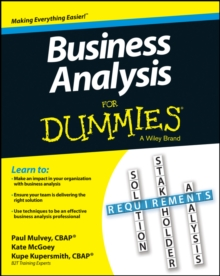 Image for Business analysis for dummies