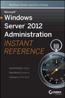 Image for Microsoft Windows Server 2012 administration instant reference