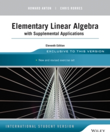 Image for Elementary linear algebra with supplemental applications