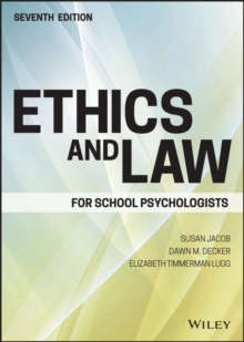 Image for Ethics and law for school psychologists