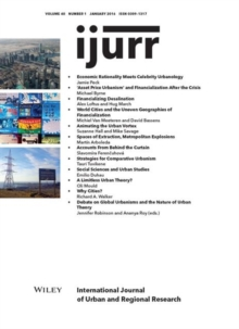Image for International Journal of Urban and Regional Research, Volume 40, Number 1