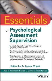 Image for Essentials of psychological assessment supervision