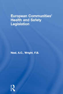 Image for European Communities' Health and Safety Legislation