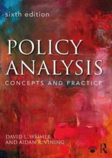 Image for Policy analysis  : concepts and practice