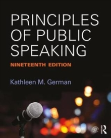 Image for Principles of public speaking