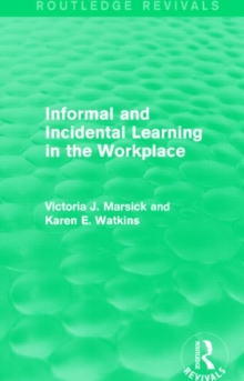 Image for Informal and incidental learning in the workplace