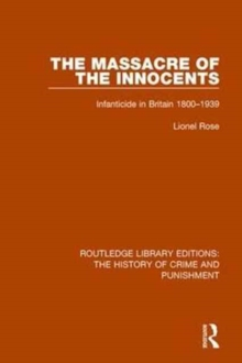 Image for Massacre of the innocents  : infanticide in Great Britain 1800-1939