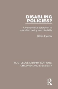 Image for Disabling policies?  : a comparative approach to education policy and disability