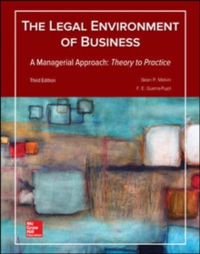 Image for The legal environment of business  : a managerial approach