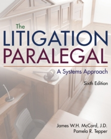 Image for The litigation paralegal  : a systems approach