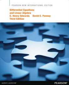 Image for Differential Equations and Linear Algebra: Pearson New International Edition