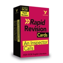 Image for York Notes for AQA GCSE (9-1) Rapid Revision: An Inspector Calls Cards - Refresh, Revise and Catch up!