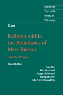 Image for Religion within the boundaries of mere reason  : and other writings