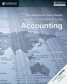 Image for Cambridge international AS and A level accounting: Coursebook