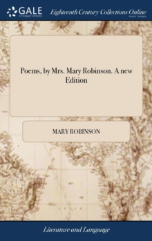 Image for Poems, by Mrs. Mary Robinson. a New Edition