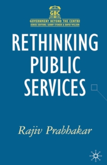 Image for Rethinking public services